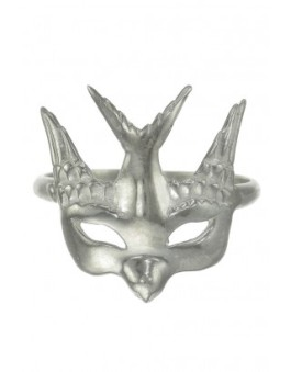 Zoe & Morgan - Swallow Mask Ring Silver