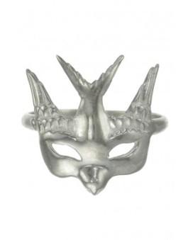 Zoe & Morgan - Swallow Mask Ring Silver