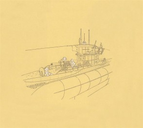 U-Boat with Deck Gun by Mark Hayward