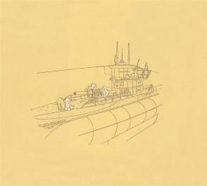 U-Boat with Deck Gun by Mark Hayward