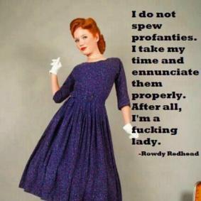 I do not spew profanities..
