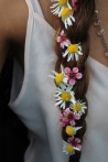 flowers in braid