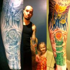 tattoo colouring in