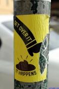 August 2012 Melbourne Poles Signs & Boxes-15 shit happens