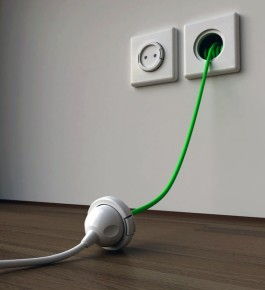 built in wall extension cord
