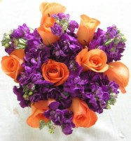 Orange and Purple posey