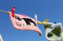 NZ Sculpture OnShore Nov 2012 (103) Madpanic Collective 'Southlandish aka The Dishcloth Project'