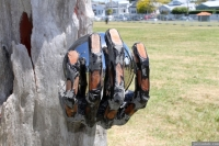 NZ Sculpture OnShore Nov 2012 (105) 'Pilgrims or God loves Fun' - Stefan Gerstmann
