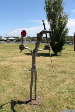 NZ Sculpture OnShore Nov 2012 (108) 'Pilgrims or God loves Fun' - Stefan Gerstmann