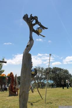 NZ Sculpture OnShore Nov 2012 (109) 'Pilgrims or God loves Fun' - Stefan Gerstmann