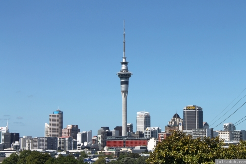 Auckland City Skyline from Anglesea St