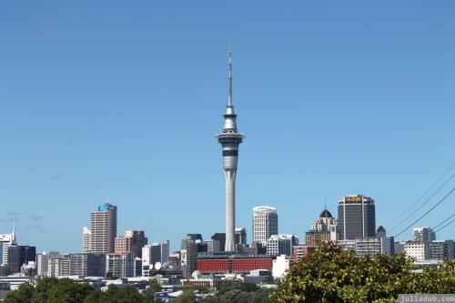 Auckland City Skyline from Anglesea St