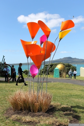 NZ Sculpture OnShore Nov 2012 (37) Donna and Colwyn Hanson's 'Tall Poppies'