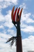 NZ Sculpture OnShore Nov 2012 (79) Ron Reichs 'Gondwana Banana'