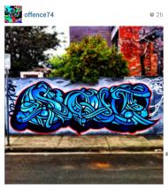 offence instagram melbourne graff