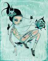 CAIA KOOPMAN'S POP SURREAL PIN-UPS - SkaterGirl
