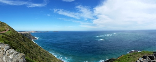 Cape Reinga with Spirits Bay in the distance...