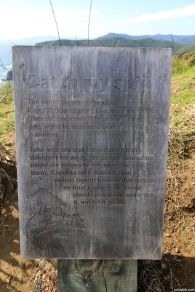 """The white beach in the distance marks Kapo Wairua - Spirits Bay. It's name comes from the ancestor Tohe some 700 years ago, when he departed from that place on a journey."" (Read the second paragraph on the photo)"